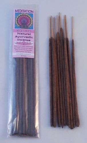 Meditation - Natural Ayurvedic Healing Incense Sticks - Styrax - 20 grams